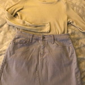 Wild Fable lavender denim skirt